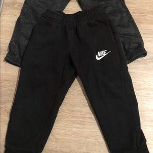 Gray and Black Nike Pants 3T